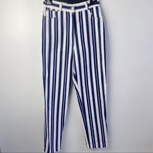 High rise Striped pants